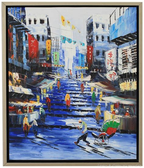 Hong Kong Artwork by Decorative Art Handmade Oil Painting On Canvas Living Room