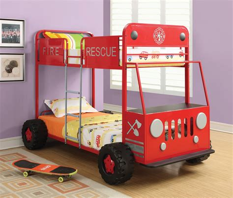 cars bunk bed denley rescue car bunk bed from coaster 460026