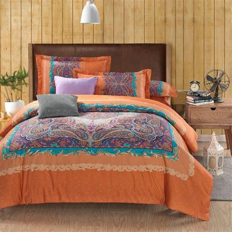 king size orange comforter set wholesale classic paisley orange king size bed lines