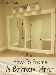 mirror frames for bathroom how to frame a bathroom mirror