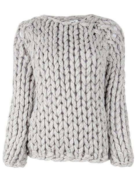 chunky knit chunky cable knit jumper crochet and knit