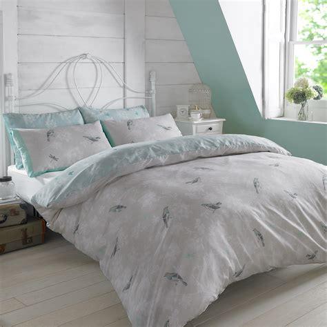 vintage bed set duvet cover with pillowcase bedding set vintage bird toile