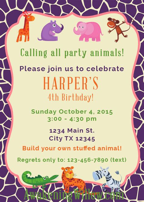 how to make your own invitation cards make your own stuffed animals birthday decorations