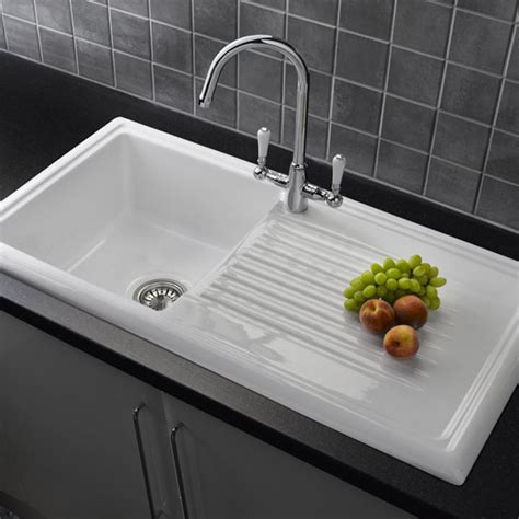 kitchen sink uk reginox white ceramic 1 0 bowl kitchen sink with mixer tap