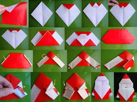 origami paper craft how to fold origami paper craft santa step by step diy