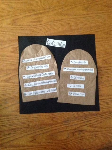 ten commandments crafts for ten commandments craft children church