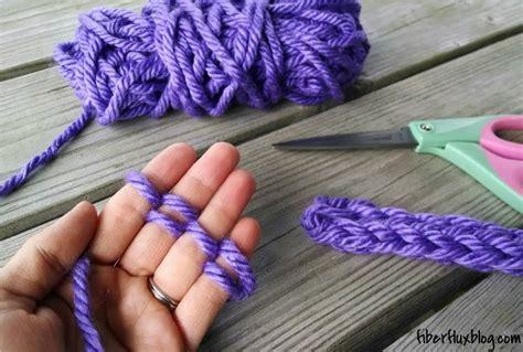 knitting on fingers fiber flux how to finger knit photo tutorial