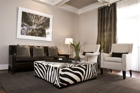 paint colors for zebra room zebra ottoman contemporary living room sherwin
