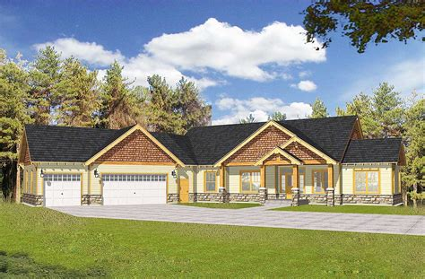 and house plans craftsman with vaulted ceilings and angled garage 14030dt architectural designs house plans