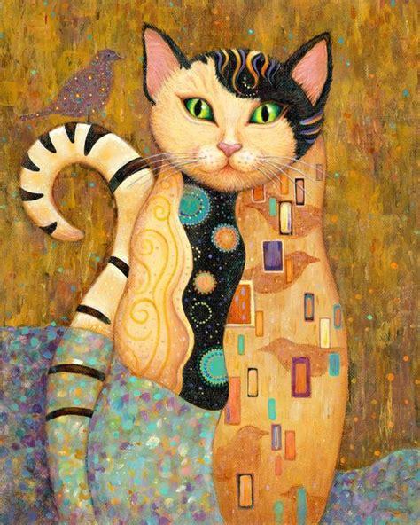 do cat painting marjorie sarnat folk style