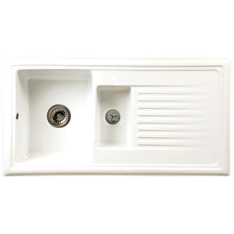 kitchen sink pack reginox white ceramic 1 5 bowl kitchen sink tap pack