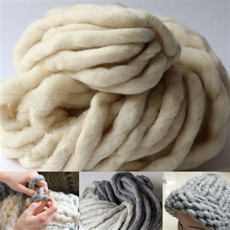 thick knit thick yarn for knitting high grade wool yarn crochet