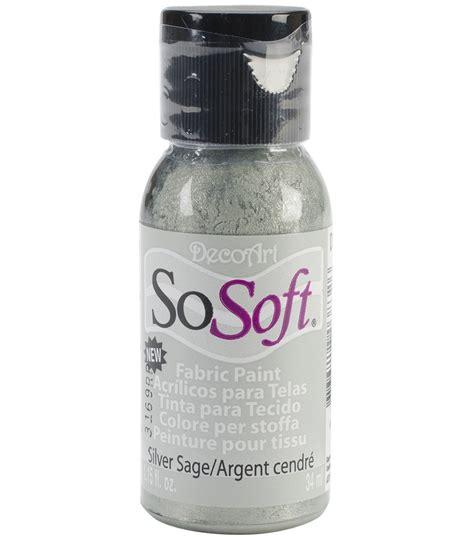 acrylic paints joann decoart sosoft fabric acrylic paint 1 15 fl oz jo