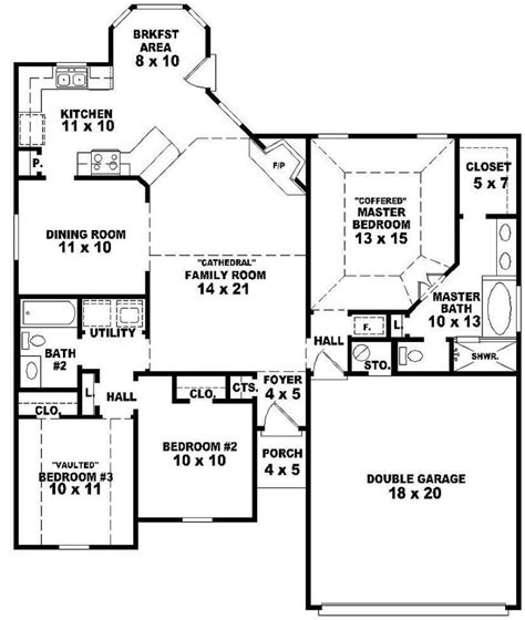 3 bedroom 2 story house plans luxury one story house plans with 3 bedrooms new home plans design