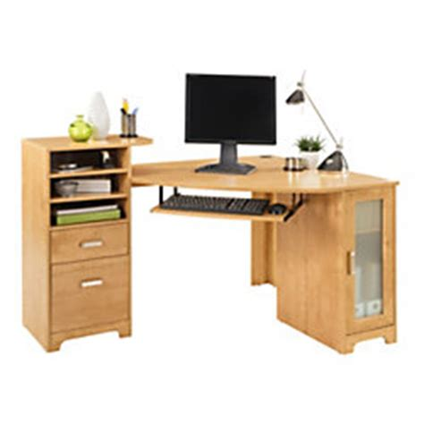 office depot corner desk bradford corner desk oak by office depot officemax