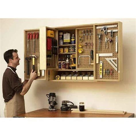 woodworking tool storage cabinet wall mounted multi layer tool cabinet diy organize your