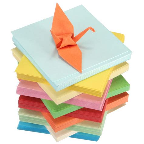 folded square origami paper diy square sided origami folding lucky wish paper