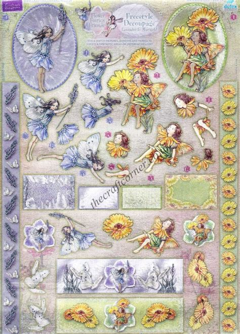 die cut decoupage books lavender marigold flower freestyle 3d die cut