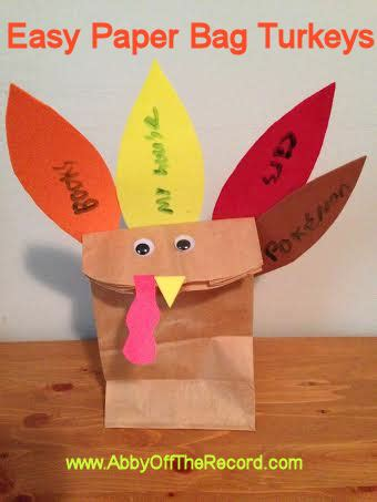 paper bag turkey craft paper bag turkeys and what second graders are thankful for
