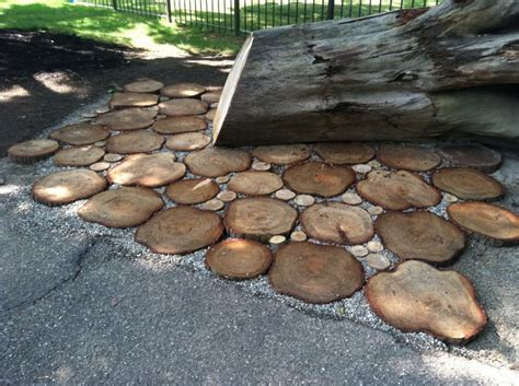 wood pavers for patio wood slice pavers green source ohio