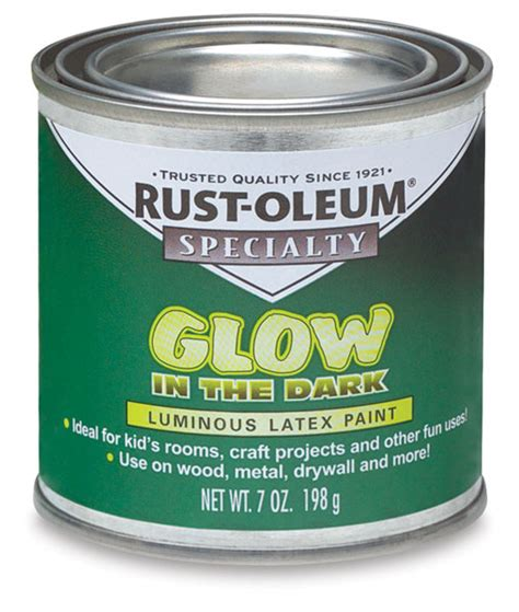 rust oleum glow in the paint rust oleum glow in the brush on paint blick