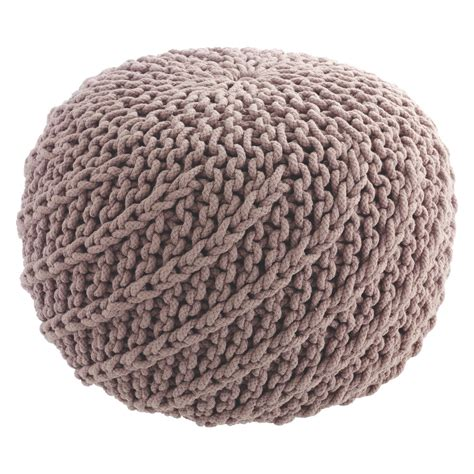 knitted pouf knot pink knitted pouf buy now at habitat uk