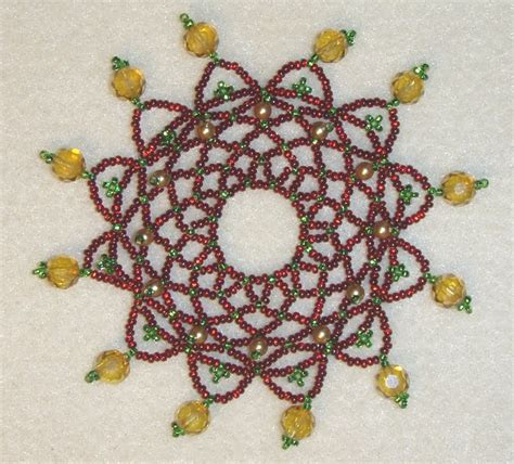 beaded ornament cover patterns free banana creations