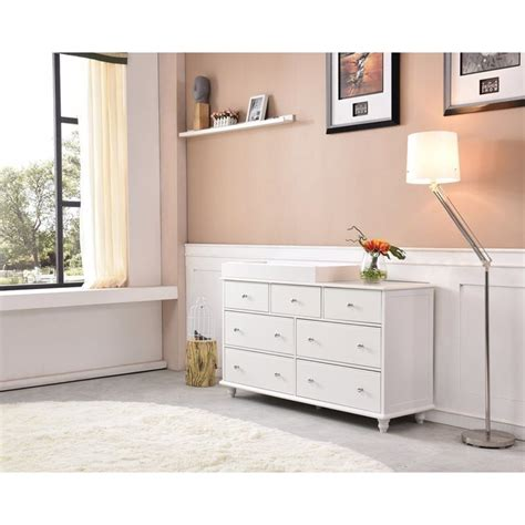 white baby change table with drawers cardinia 7 drawer baby change table dresser white buy
