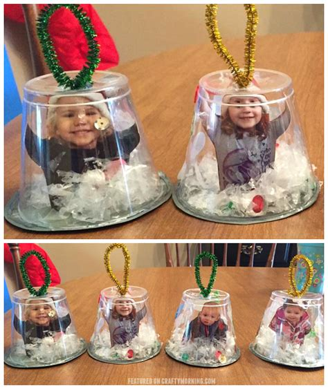 kid ornament craft ideas snow globe cup ornaments crafty morning
