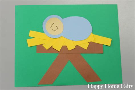 baby jesus craft for simple paper baby jesus craft happy home