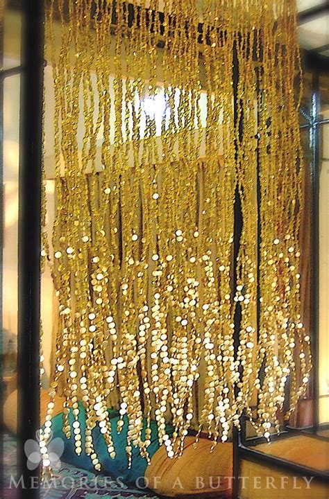 gold beaded curtains antique chagne gold mini bead curtain
