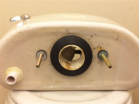 Toilet Tank Gasket Replacement by How To Fix A Toilet Leaking From The Tank Bolts Or Gasket