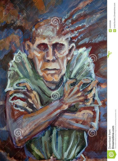 acrylic painting person stock illustration image 64093586