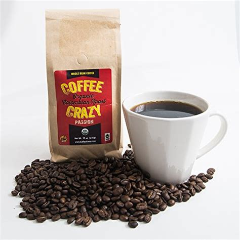 CoffeeCrazy Premium USDA Organic, Fair Trade Colombian whole Bean Coffee (Whole Coffee Beans