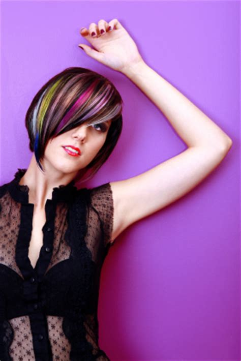 multie colored bob hair styles bob hairstyle with multi colored highlights