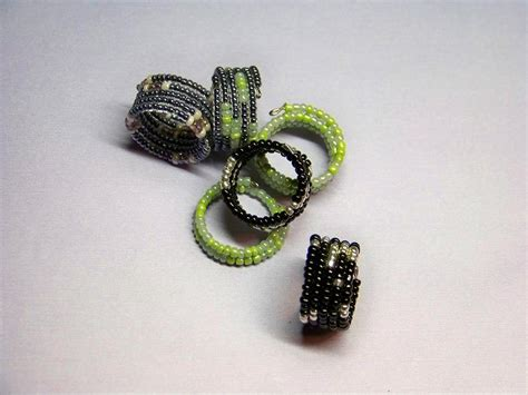 beaded ring sparkle e jewelry