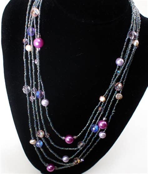 beading necklaces multi strand beaded necklace