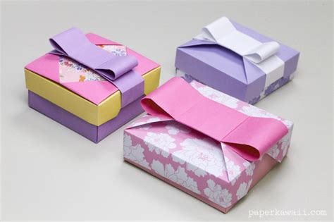 how to make origami gift box with lid origami gift box mix match lids paper kawaii