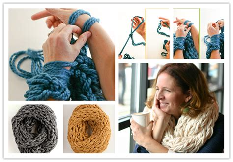 arm knitting scarf step by step diy arm knitting scarves