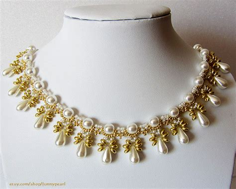 free beaded jewelry patterns free pattern for necklace elettra by lyubov buntova