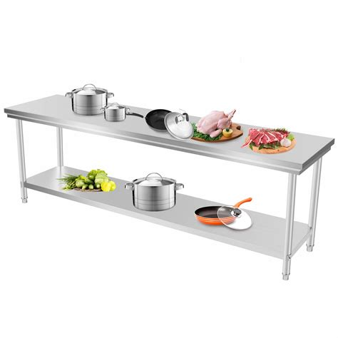 stainless steel kitchen prep table 201 commercial stainless steel kitchen work bench top food