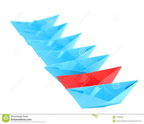 origami boats and ships origami ships standing in a row stock photos image