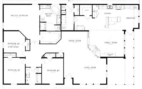 4 bedroom house floor plans 4 bedroom 2 bath floor plans homes floor plans