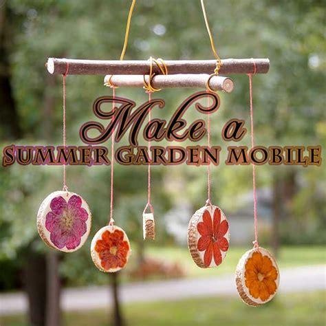 gardening crafts for make a spinning flower garden mobile woo jr