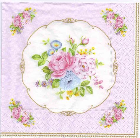 napkin for decoupage 4 decoupage napkins vintage bouquet napkins
