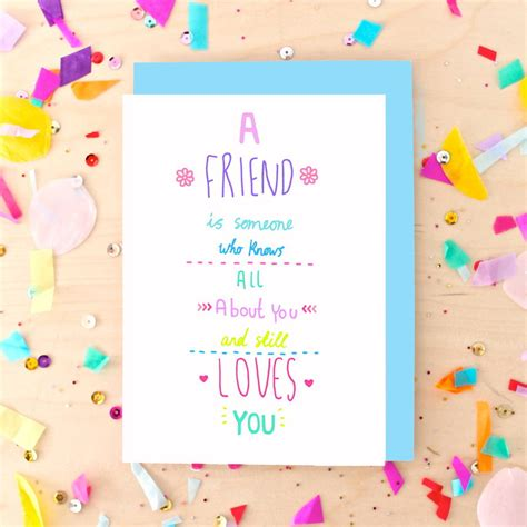 how to make greeting cards for friends best friend quote greeting card by pickle