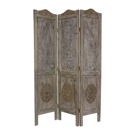 privacy screens room dividers shop furniture room dividers 3 panel distressed