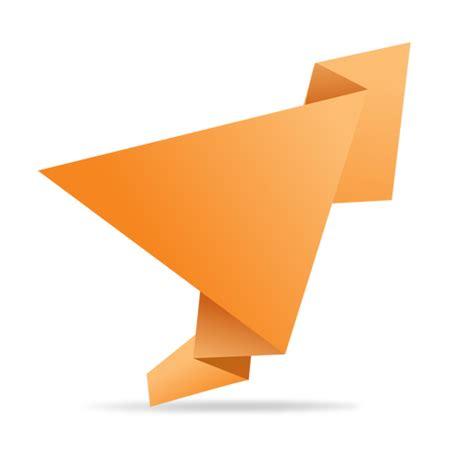transparent origami paper orange folded origami banner transparent png svg vector