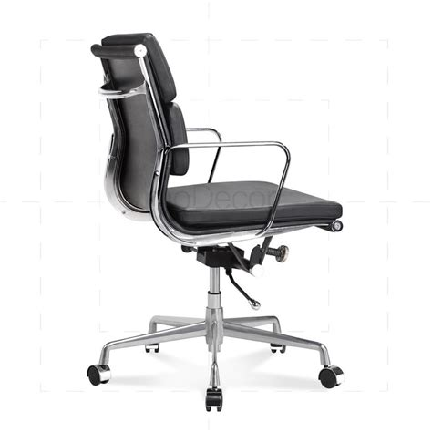 eames low chair eames office chair low back soft pad black 163 316 01