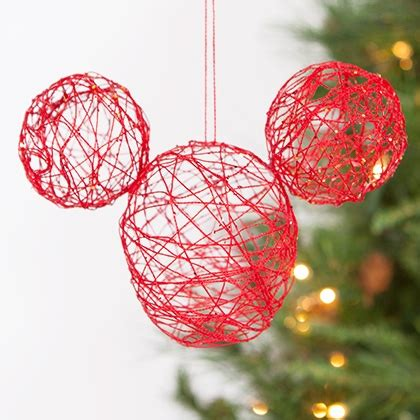 string crafts for mickey string ornament